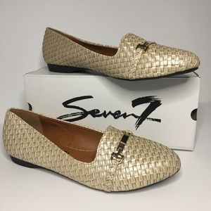 Seven7 Pearl Gigi Buckle Pointed Toe Loafer Shoe